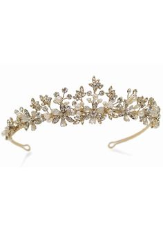 Ivory and Co Seville Tiara Swarovski, Wedding Tiaras, Gold Tiara, 14 Carat, Tiara Hairstyles, Ivory Pearl, Tiaras And Crowns, Bridal Accessories, Hair Pieces