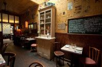 A Fireplace and a Bar - Le Barricou in New York, NY