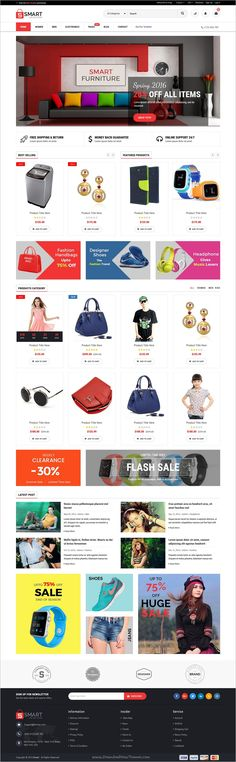 Smart is a modern, clean and professional 4in1 HTML5 #Bootstrap #Template for clothes #shop, fashion store, boutique, makeup products, electronics products or similar websites download now➩ https://themeforest.net/item/smart-multipurpose-ecommerce-html-template/18940882?ref=Datasata