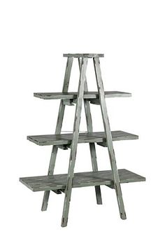 Distressed ladder shelving - at Mr.Price Home. Find an old ladder, plonk some wooden planks on it, give it a paint, and voila! Mr Price Home, Old Ladder, Home Decor Online, Floating Shelves, Home Furniture, Old Things, Shelf, Diy Shelving, Planks
