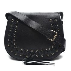 Get the trendiest Cross Body Bag of the season! The Black Leather Cross Body Bag is a top 10 member favorite on Tradesy. Black Leather Crossbody Bag, Bago, Black Cross Body Bag, Satin Fabric, Cross Body Handbags, Saddle Bags, Dust Bag, Paisley, Shoulder Strap