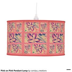Pink on Pink Pendant Lamp Pink Pendants, Pendant Lamp, Table Lamp, Lighting, Home Decor, Table Lamps, Decoration Home, Room Decor, Swag Light