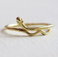 snake ring gold snake ring thin ring gold ring by sohocraft