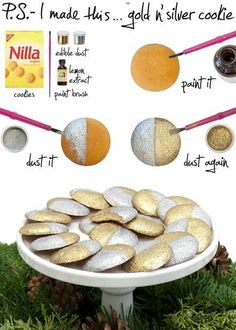 Gold and Silver Nilla Wafers