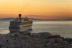 GREECE CHANNEL   Costa Fortuna at Mykonos