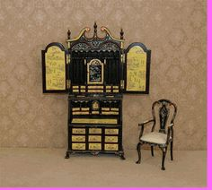 HAND PAINTED CHINOISE SECRETARY - LIMITED