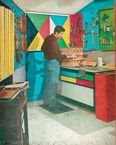 color blocked workshop (by retro-space, via Flickr)