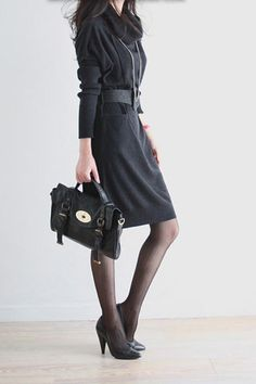 Winter New Long Sleeve Casual Sweater Dress