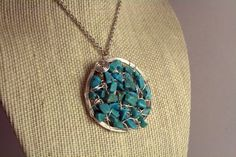 Wired Turquoise Pendant