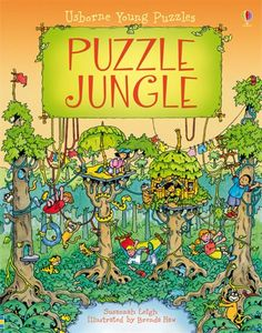 Puzzle jungle  A fun, challenging adventure for young children with a picture puzzle to solve on every double page. It's the day of the Puzzle kite-flying competition. Marcy plans to steal the precious Soaraway bird and use its feathers to make her kite fly highest of all. James, Cath and Max set out to stop her. Answers and hints at the back of the book.