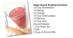 Vegan muscle building smoothie