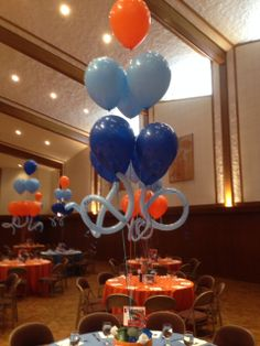 "3-tier ""balloon chandelier"" centerpiece by Ideal Party Decorators - www.idealpartydecorators.com"