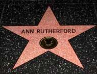 Ann Rutherford's star (Careen O'Hara) on the Hollywood Walk of Fame. Her star is located at 6834 Hollywood Blvd.