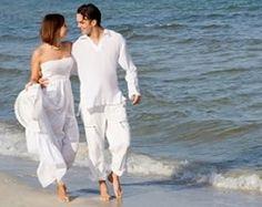 Beach wedding attire for men and girls