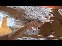 cestaria com jornal...MODULO 19...cadeira trançada com jornal - YouTube