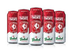 Grolsch Beer Can FC Twente season 2011 by Elroy Klee, via Behance Grolsch Beer, Beer Can Collection, Root Beer, Beer Bottle, Appreciation, How To Look Better, Good Things, Graphic Design, Canning
