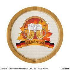 Festive Fall Round Oktoberfest Cheese Board