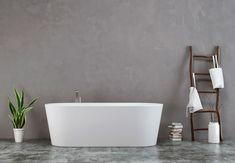 Gold Bathroom, Bathroom Ideas, Outdoor Bathrooms, Cement, Home Improvement, Bathtub, Interior Design, Toilet, Tips
