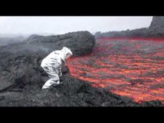 Raw: Lava Flows From Russian Volcano - YouTube