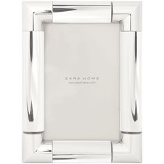 Zara Home Metal Corners Frame (32 BRL) ❤ liked on Polyvore featuring home, home decor, frames, silver and zara home