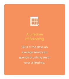 "Orthodontic Fact #39 ""38.3 = the days an average American spends brushing teeth…"