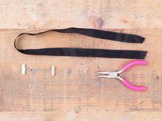 DIY-Anleitung: Choker-Halskette mit Anhänger selber machen  via DaWanda.com