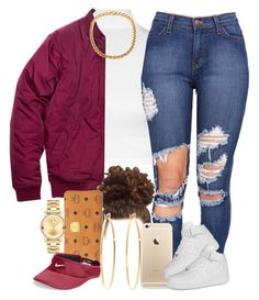 """""""Distressed. """" by livelifefreelyy ❤ liked on Polyvore featuring WearAll, NIKE, Movado, MCM, Brooks Brothers, women's clothing, women's fashion, women, female and woman"""