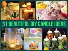 31 Beautiful DIY Candle Ideas & Tutorials | DIY Home Sweet Home