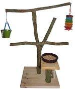 Jouet pour perroquet (perchoir, parc de jeux) - Toy for parrot (perch, playground) Parrot Perch, Parcs, Playground, Diy, Decor, Exotic Birds, Animaux, Budgie Toys, Budgies