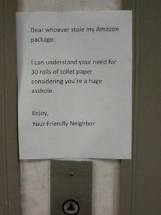 funny, funny fliers, funny letters, funny notes, funny pictures, funny photos, hilarious, 20 Angry and Funny Notes from Victims of Theft