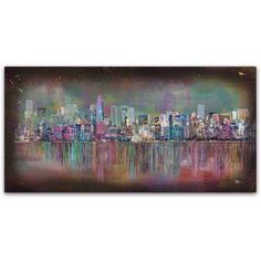 Trademark Fine Art 'New York City' Canvas Art by Ellicia Amando, Size: 24 x 47, Multicolor