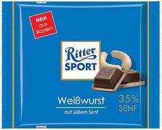 RITTER SPORT Fake Schokolade Weißwurst