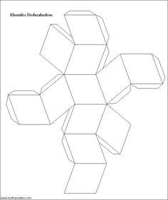 modelo de papel de un dodecaedro rhombic