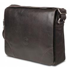 "Christiansborg Messenger Bag up to 16"" - Hunter Dark"