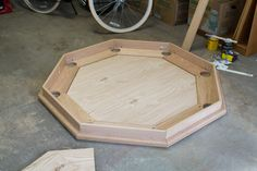 Octagon Poker Table (Part Subtable and Playing Surface) Woodworking Bench For Sale, Woodworking With Resin, Used Woodworking Machinery, Woodworking Shows, Woodworking Projects For Kids, Custom Woodworking, Woodworking Plans, Woodworking Apron, Woodworking Equipment