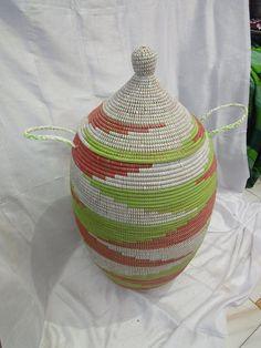 handmade  laundry basket by MogaArtisanatShop on Etsy