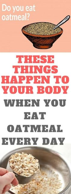 These Things Happen To Your Body When You Eat Oatmeal Every Day Marvelous Submit