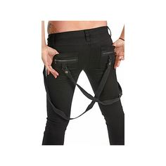 Mechanical Bunny Boutique : Tripp Black Skinny Leg Bondage Pants w/... ($62) ❤ liked on Polyvore