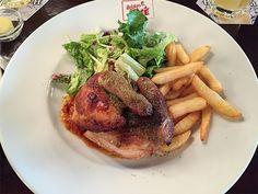 Chicken for lunch at Belgian Beer Café Leuven, Shinagawa, Tokyo