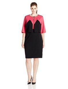 Danny & Nicole Women's Plus-Size Lacosta Knit Jacket Dress, Hot Pink/Black, 20 Danny and Nicole http://www.amazon.com/dp/B00OKUNS6E/ref=cm_sw_r_pi_dp_Gc4tvb05SS5SR