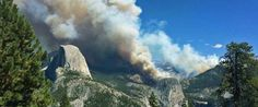 Hikers Evacuated By Helicopter As Wildfire Rages In Yosemite, September, 2014.