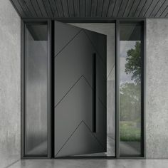 If you are searching for have the best quality Iron pivot doors for your home. then you are at the right place because Zen Doors have a large variety of doors from you can choose according to your preference. For more information check our website. Modern Entrance Door, Main Entrance Door Design, Modern Front Door, Front Door Design, House Entrance, Entrance Doors, The Doors, Front Entry, House Main Door