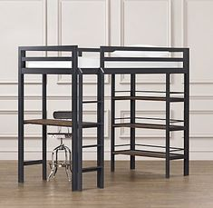 Industrial Loft Study Bunk Bed | Bunk Beds | Restoration Hardware Baby & Child