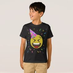 #party - #Silly Face Emoji Birthday Party Shirt