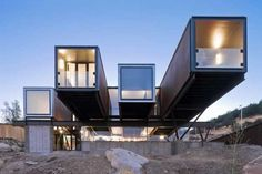 This in-your-face Chilean hillside house turns up the drama. | 23 Surprisingly Gorgeous Homes Made From Shipping Containers