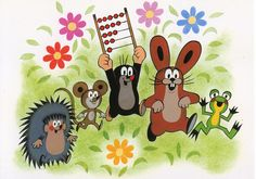 bought in Berlin Mole, Vintage Children, Kids And Parenting, Hedgehog, Kids Rugs, Create, Illustration, Cards, Painting