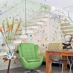 Opulent home Daily Dream Decor Interior Styling, Interior Decorating, Interior Design, Decorating Ideas, Interior Stairs, Interior Architecture, Wallpaper Decor, Chinoiserie Wallpaper, Cool Chairs