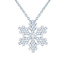 "From LES PLAISIRS DE BIRKS ™ Collection, this 18kt white gold snowflake pendant with pavé diamonds has a total carat weight of 0.26ct. The pendant hangs from an 18kt white gold pendant that measures 18"" inches (45.7 cm) with a shortening ring at 16.5"" inches (41.9cm)."
