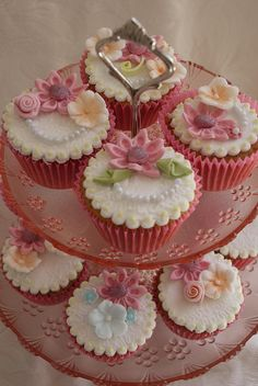Beautiful Floral Mother's Day Cupcake Tower
