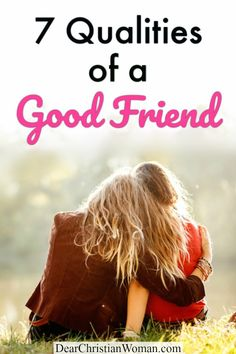 Looking for the qualities of a good friend - someone who is loyal, honest, kind, gives loving constructive criticism, and is trustworthy? Here are 7 qualities of a great friend - whether they are a christian friend from childhood, college friend, mom friend, church friend, etc. #bestfriend #momlife #friendship #godlyfriends #christianwomen #bff #lifeadvice #christianadvice Women Friendship, Best Friendship, Friendship Quotes, Friends Mom, True Friends, Great Friends, Christian Friends, Christian Women, Communication Relationship